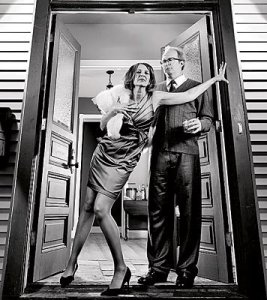 Amy Morton and Tracy Letts in Albee's Who's Afraid of Virginia Woolf